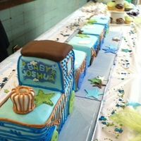 Carter Boy Baby Shower Train Cake
