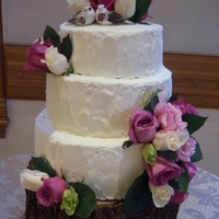 "Natural Rustic Wedding Cake 6""-8""-10"" butter cream wedding cake"