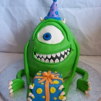 Mike Zukowski Monster's Inc Cake Decorated with marshmallow fondant and gum paste.