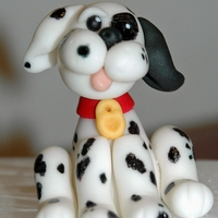 Dalmation Dalmation made out of fondant/tylose for a fireman cake I am working on.