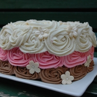 Neopolitan Rose Swirl Cake Inspired by I am Bakers rose swirl cake.