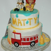 Fireman Cake Cake I made for a little boy's 2nd birthday.