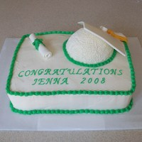 Green And White Graduation Cap Cake green and white graduation cap cake. the cap is a half ball pan. the tassel is MMF.