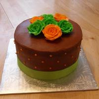 Flowers   Vanilla cake with chocolate mocha buttercream icing. Buttercream flowers. tfl