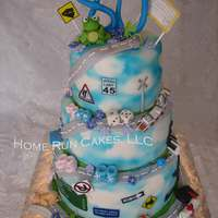 Road Of Life For 80 Years A very detailed Road of Life, celebrating 80 years of a life well lived. SO many details on this cake, including an edible image of the...