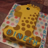 Giraffe 1St Birthday Cake First Birthday cake for my lil guy