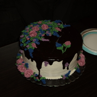 My Mother's 70Th Birthday Cake I made this for my mother's 70th Birthday: picture quality is not good, but my camera was missing, I was too busy preparing the...