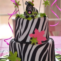 Wintery Zebra Baby Shower Cake For My Daughters 3Rd Baby Cake Was Also Zebra Striped Inside Wintery Zebra Baby shower cake! For my daughter's 3rd baby! Cake was also zebra striped inside.