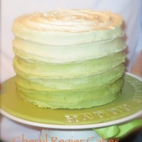 Green Ombre Birthday Cake