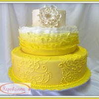 Yellow Ombre Frills