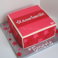 American Girl Themed Cake Chocolate Cake With Whipped Strawberry Filling American Girl themed cake. Chocolate cake with whipped strawberry filling.