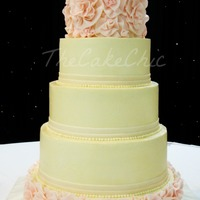 Ivory And Blush Flower Ruffle Wedding Cake From Bottom Vanilla Cakestrawberry Cream Filling Chocolate Cakecaramel Pecan Filling Straw Ivory and Blush Flower Ruffle Wedding Cake. From bottom: Vanilla cake/Strawberry cream filling, Chocolate cake/Caramel pecan filling,...