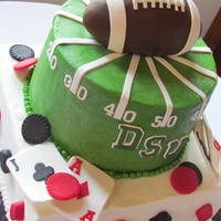 Football/poker Grooms Cake I did this one for my cousin who FINALLY decided to get married!! I was so excited for him that I baked this cake at my home in Louisiana &...