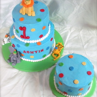 1St Birthday Cake With Animals