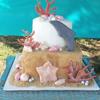 Dolphin Sea Coral Cake Made this one for my daughters 6th birthday this year. She wanted a dolphin & some shells on her cake, but also liked the idea of a...