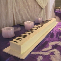 Piano/keyboard Groom's Cake This was FUN!!! Has all 88 keys & was 48 inches long.