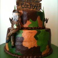 Birthday Cakes   Duck Dynasty Theme Cake with gumpaste Uncle Si!! :-)