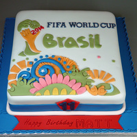 Fifa Fever Marble cake with raspberry jam filling. My 11 year old's birthday cake. This child adores football and cake, hence the question is...