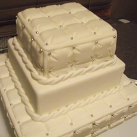 Quilted Cake Quilted wedding cake