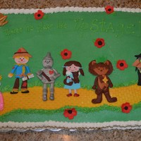 This Cake Was Made For A Wizard Of Oz Cast Party But Would Make A Great Birthday Cake Buttercream With Fondant Decorations   This cake was made for a Wizard of Oz cast party, but would make a great birthday cake. Buttercream with fondant decorations.