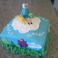 Adventure Time Cake With Buttercream And Hand Sculpted Fondant Figures My Daughter Helped Me With This One Thanks Emily   Adventure Time cake with buttercream and hand sculpted fondant figures. My daughter helped me with this one. Thanks Emily!!!