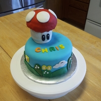 Super Mario Bros Birthday Cake This is a cake that I did for my son that loves Super Mario Bros (he even went as Luigi for Halloween that year). Rainbow chip cake covered...