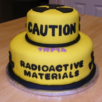 Radioactive Cake A cake I decided to make for my husband to take to work after the completion of one of their refueling outages (nuclear power plant). WASC...