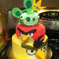 Angry Birds Game   My son wanted an Angry Birds birthday cake. What a great looking and tasting cake!!