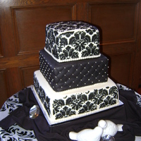 Black & White Damask Inspired by a design from the talented Melanie Judge. Thank you for looking. :)