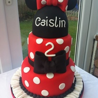 Minnie Mouse Cake I can't take any credit for the design. I saw this cake on cake central by another decorator 'Macsmom' and though I would...