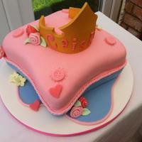 Princess Pillow Cake This incredible design not mine. I saw it via the Designer cake company. Just had to try this one for my neice!