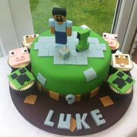Minecraft Cake   Recreated for my son from 'Love is Cake' design