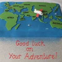 Emigrating To Australia!   Cake I made for a family emigrating to Australia!