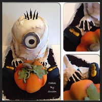 Mummy Minion Halloween Cake Mummy Minion Halloween cake.