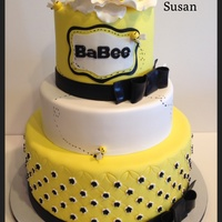 Bumble Bee Baby Shower Cake Bumble bee baby shower cake