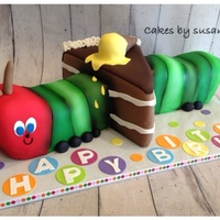 Hungry Caterpillar Eating Cake Birthday Cake Hungry caterpillar eating cake birthday cake
