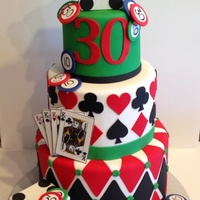 Gambling Themed Birthday Cake Gambling themed birthday cake