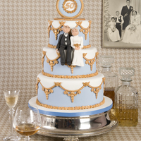 50 Years Wedding Anniversary   This is the golden wedding cake that I made for my book, happy cake days