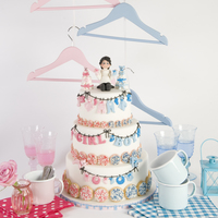 Is It A Boy Or A Girl? This gender reveal cake I made for my book, happy cake days