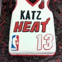 Miami Heat Cake for a Miami Heat-themed Bar Mitzvah