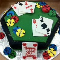 "Poker This was a poker cake for a 30th ""Casino"" birthday"