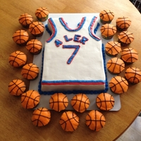 Basketball Jersey Cake  This is a cake for a little boy who does not like to eat cake (or sweets), but must have a birthday cake every year for his friends to eat...
