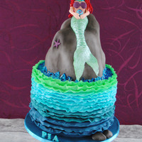 Mermaid Birthday Cake For My Daughter This Complete edible Mermaid Cake, was made for my daughters 5th Birthday last year :) The Ruffles took me Hours :/ :)