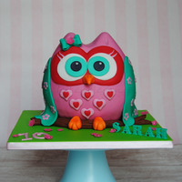 Owl Cake For My Niece´s Birthday