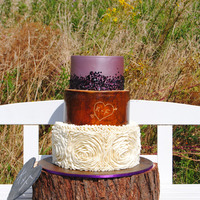 "Charming ""rustic Ruffle Sequin"" Wedding Cake Hello everyone! This is my latest wedding cake. I was waiting for 1 Year to do this cake and i really love to do it <3 It was a huge..."
