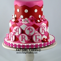 Harper Little cake for a sweet little girl. All fondant. TFL