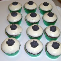 Sugar Free Chocolate Cupcakes Has sugar free icing too and topped with a sugar black paw print