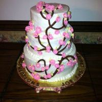 Cherry Blossom Tiered Cake