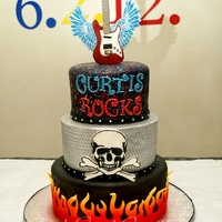 Rock Star! All fondant and handpainted details.