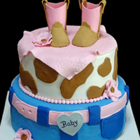 Baby Shower Cake Iced In Buttercream With Fondant Accents Boots Are Made From Gumpaste baby shower cake, iced in buttercream with fondant accents. boots are made from gumpaste